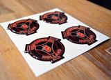 Sticker Set V8power logo 3D_