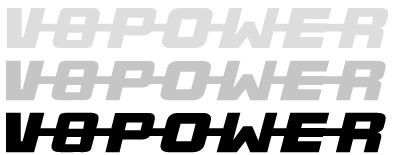 Sticker www.v8power.nl 30 cm