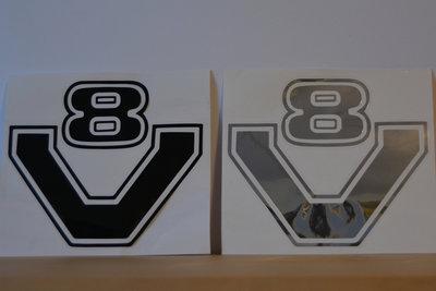 Logo sticker V8