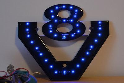 V8 Led Blauw
