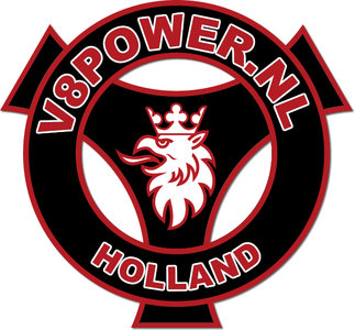Sticker V8power Holland