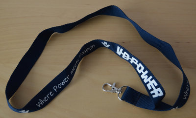 Keycord ''Where Power meets Passion'' Blauw
