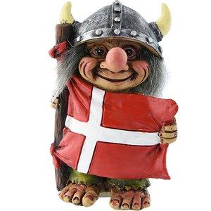 Trol met Deense vlag
