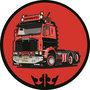 Sticker-rond-143-zwart-rood