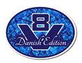 Sticker-V8-Danish-Edition-Blauw