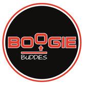 Sticker-Rond-65-mm-Boogie-Zwart-Rood-SET