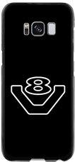 Telefoonhoesje-V8-logo-Zwart