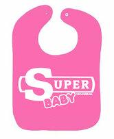 Slabbetje-SUPER-baby-(Roze)